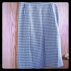 Pendleton wool pencil skirt